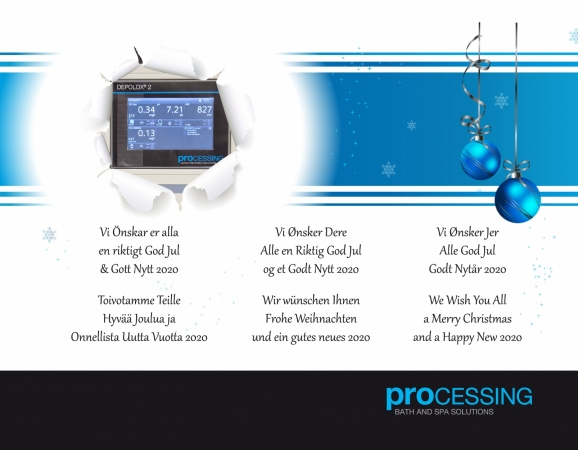 Merry Christmas from Processing Bath & Spa Solutions 2019